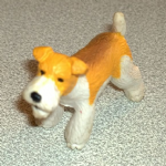 #37 Azuma Fox Terrier Vintage Puppy in my pocket dogs 1994